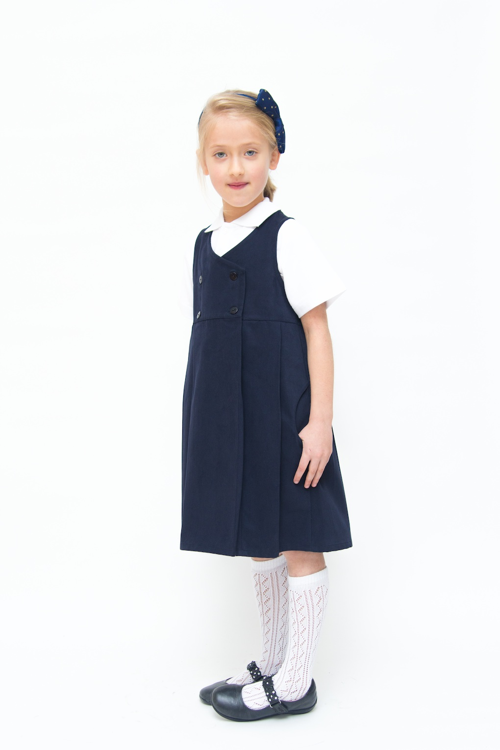 Pure Cotton School Uniform | Navy School Pinafore | EcoOutfitters