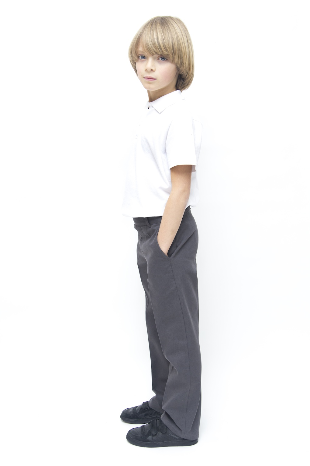 The sale of synthetic to cotton trousers is about according to the central buyer for schoolwear at John Lewis, which is the official supplier of school uniforms to 1, schools in the UK.