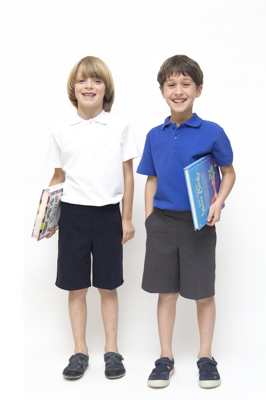 ethical schoolwear organic cotton boys navy shorts