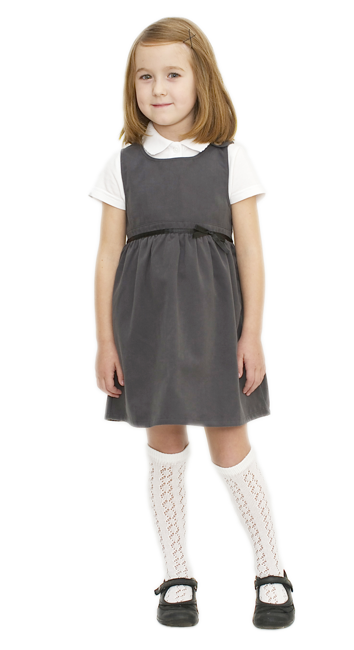 Eco-friendly School Uniform | Pure Cotton Grey School Pinafore ...