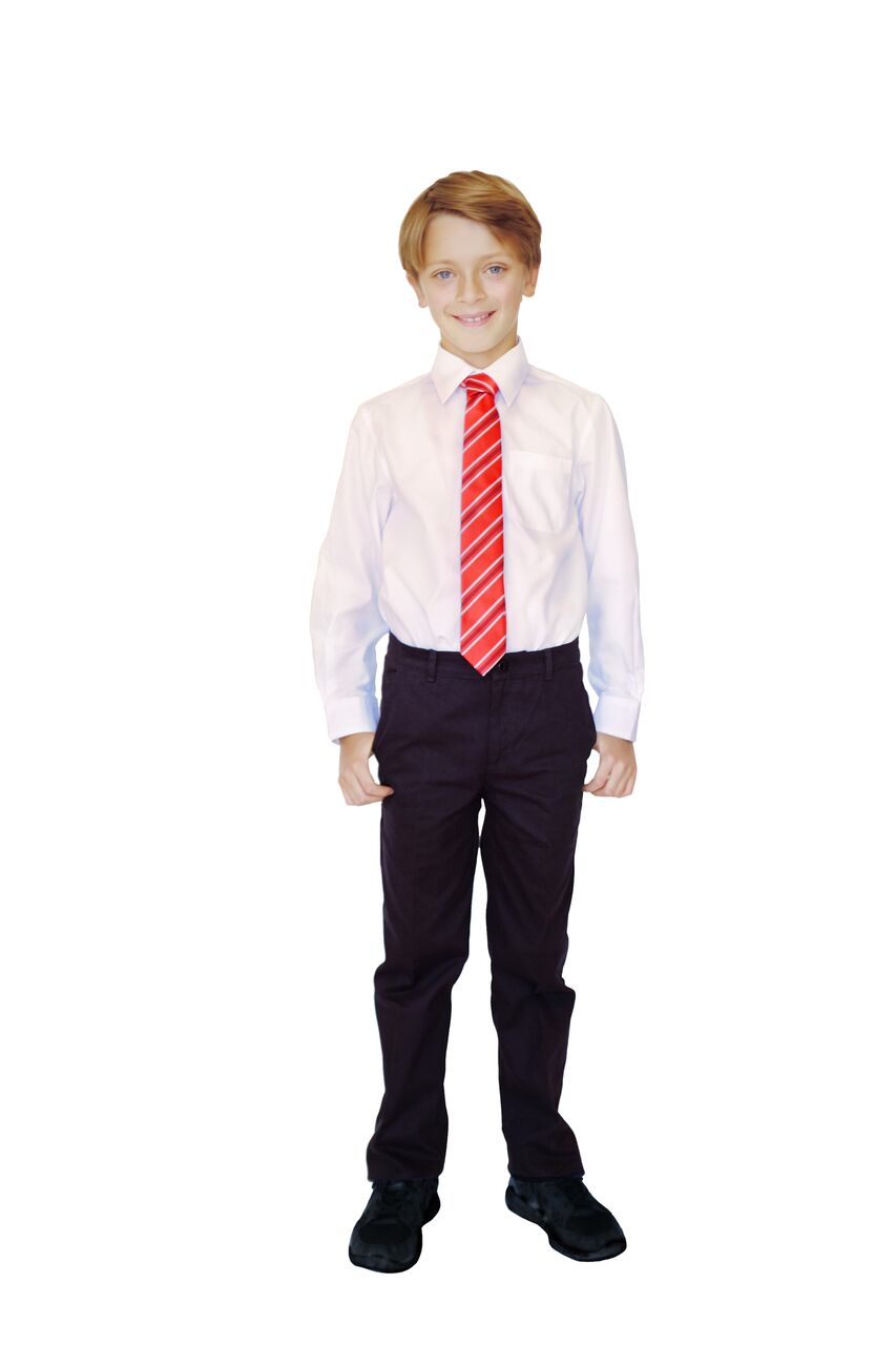 Organic Cotton Boys Trousers Cotton Black School Trousers