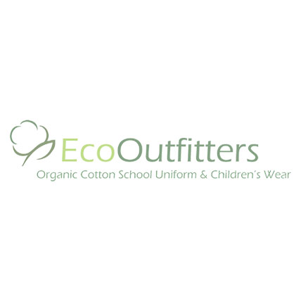 Black Girls' Slim Fit Trousers made from Organic Cotton
