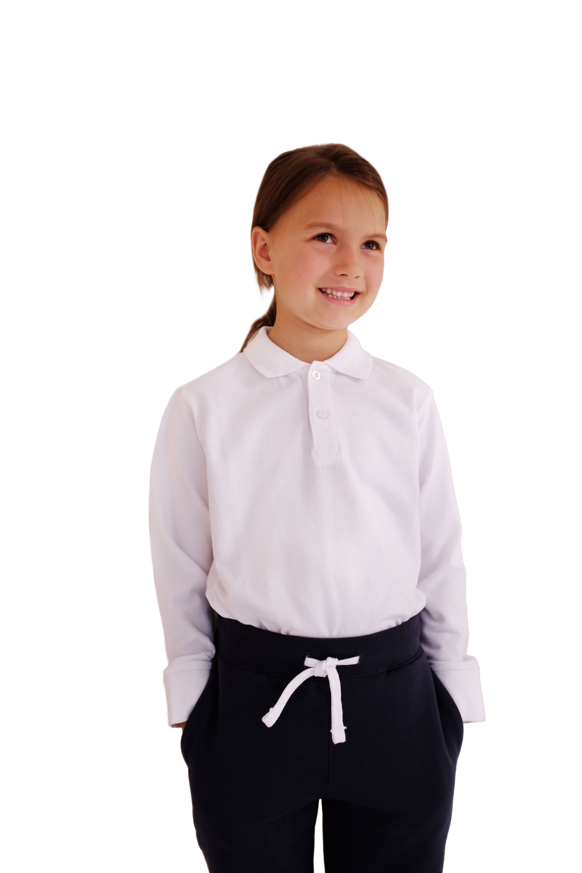 Organic Cotton School Uniform Unisex Long Sleeve Polo