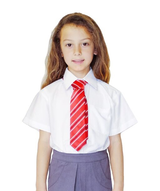 Pure cotton school uniform organic cotton unisex school for Short sleeve school shirts