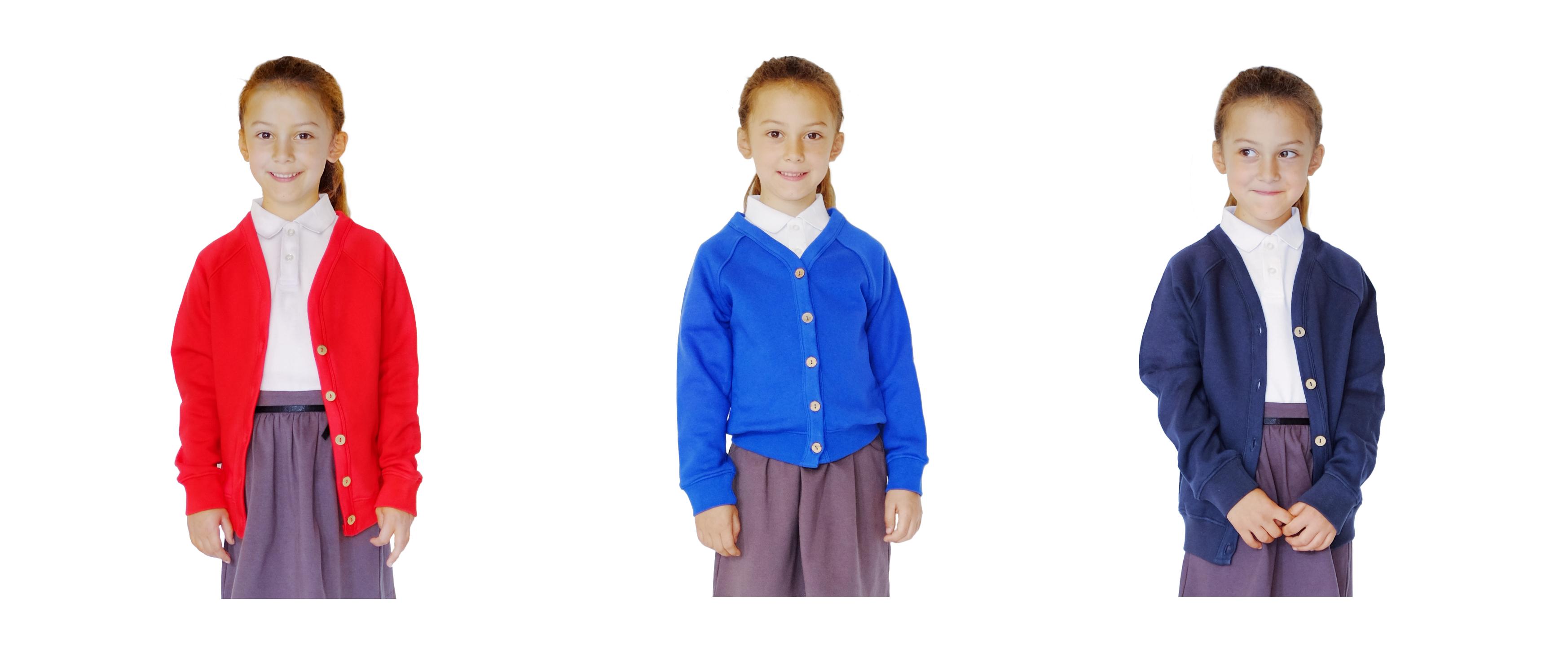 3307dab8f Pure cotton school cardigan ...
