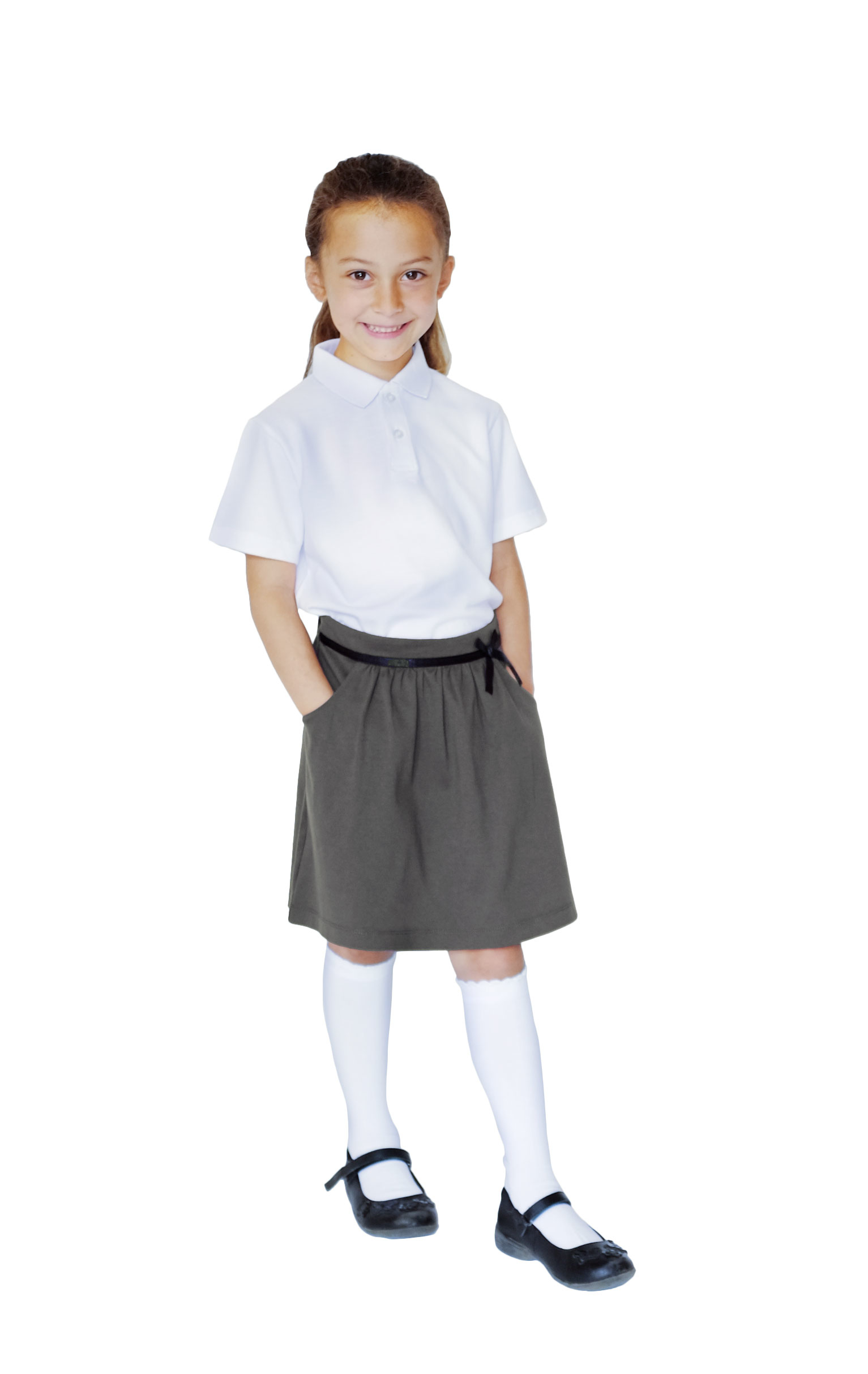 Pure Cotton School Uniform Grey Jersey Skirt Ecooutfitters
