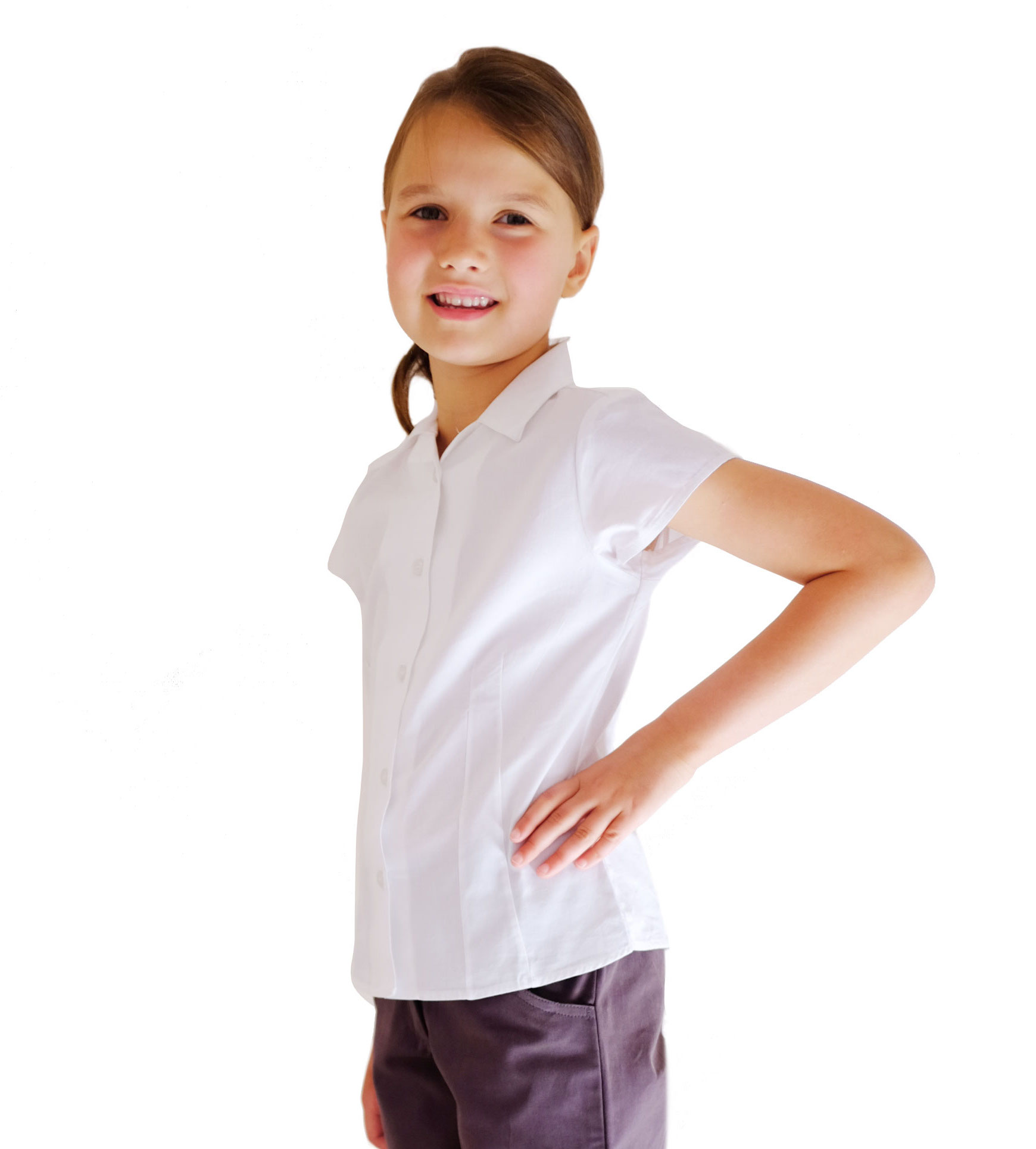 03a1ae2f82e74b Organic Cotton School Uniform | White Revere Collar Blouse ...