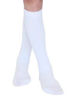 24eb27947bc organic cotton white knee high socks ...
