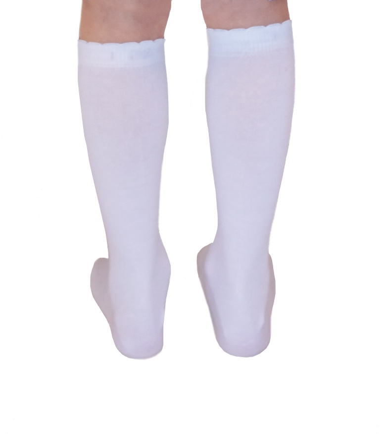 dc0f82ba5 ... organic cotton white knee high kids socks